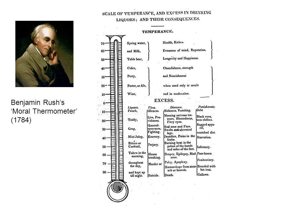 Benjamin Rush's 'Moral Thermometer' (1784)