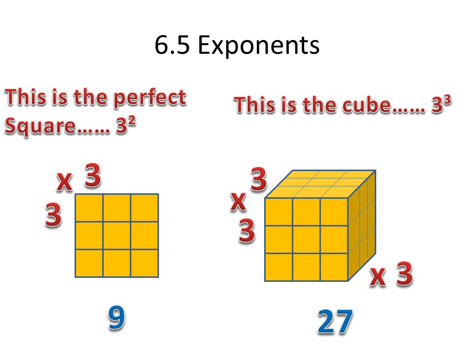 6.5 Exponents