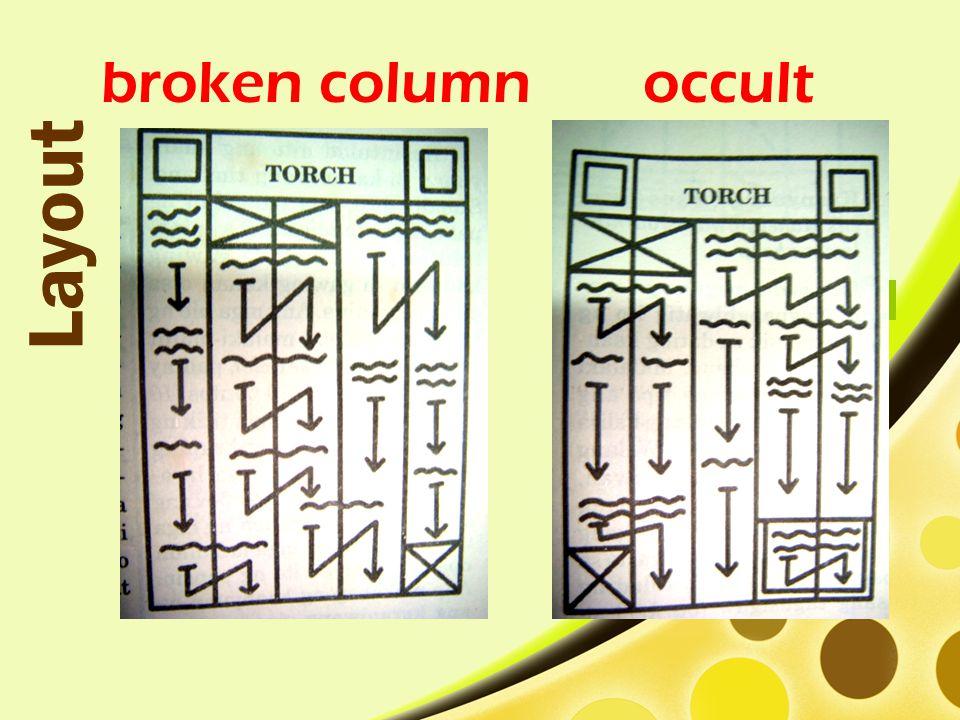 broken column Layout occult