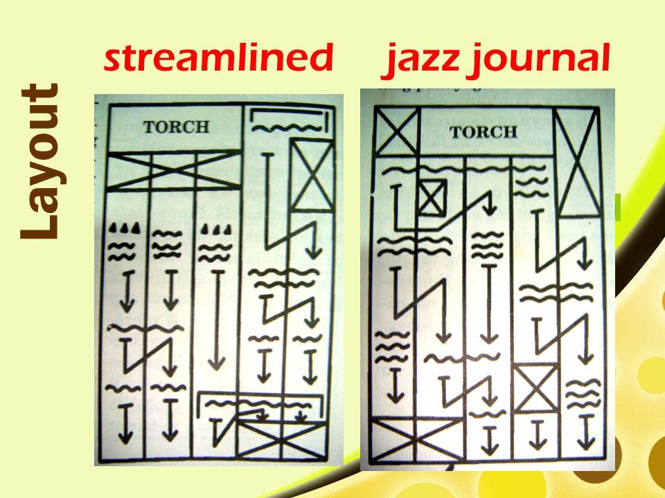 streamlined Layout jazz journal