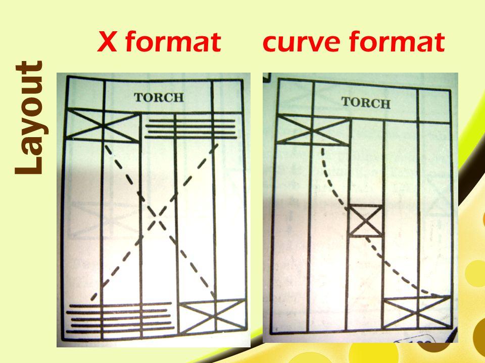 X format Layout curve format