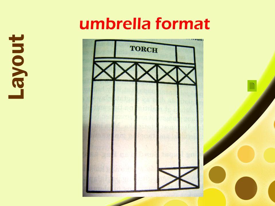 Layout umbrella format