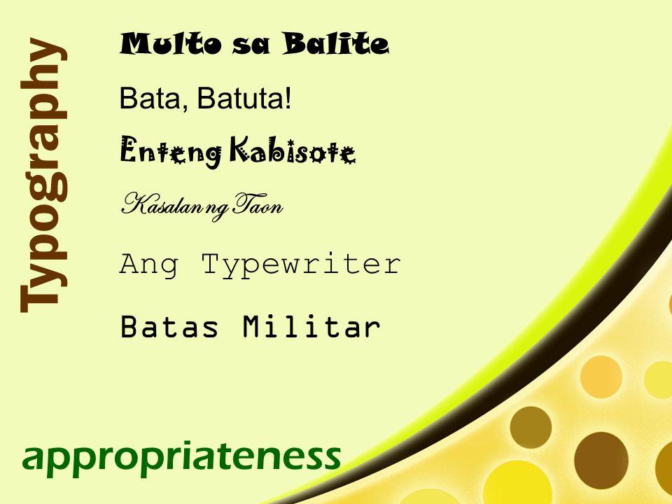 Multo sa Balite Bata, Batuta.