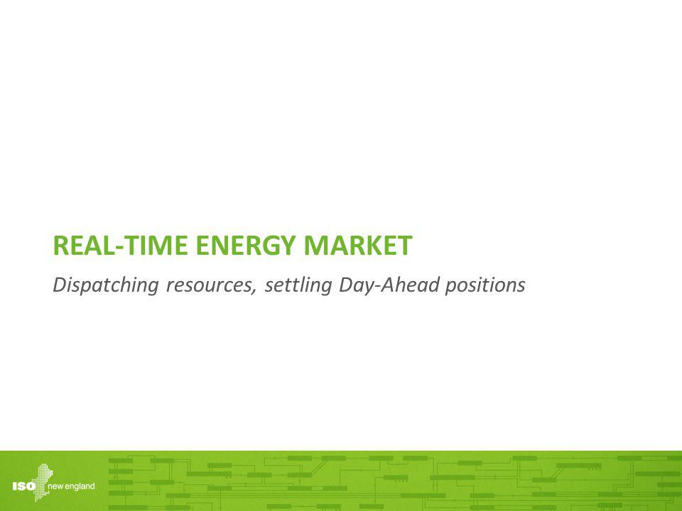 REAL-TIME ENERGY MARKET Dispatching resources, settling Day-Ahead positions