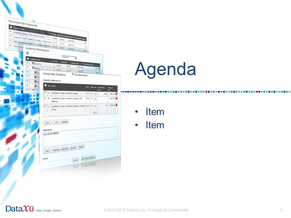 Agenda 5 ItemItem