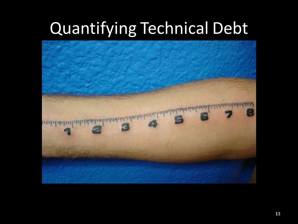 Quantifying Technical Debt 13