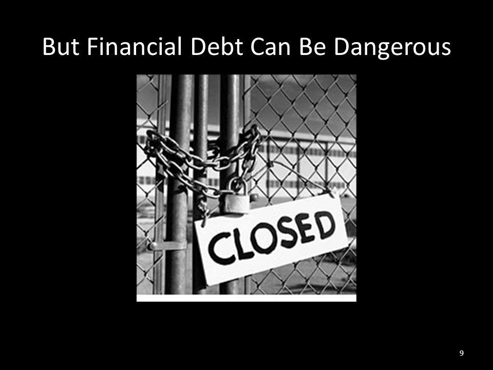 But Financial Debt Can Be Dangerous 9