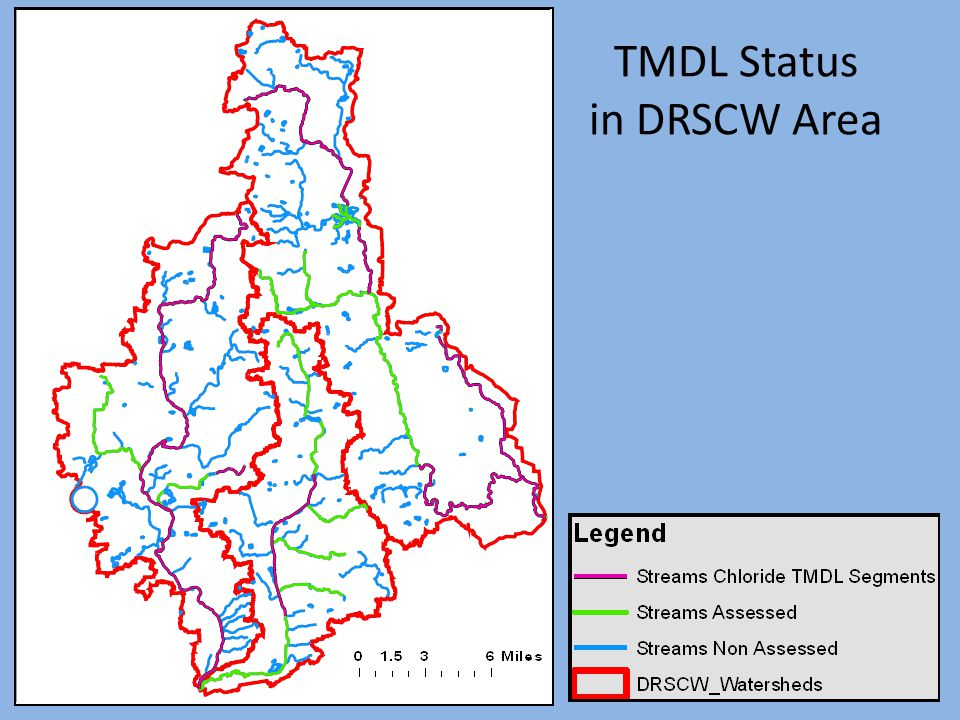 TMDL Status in DRSCW Area