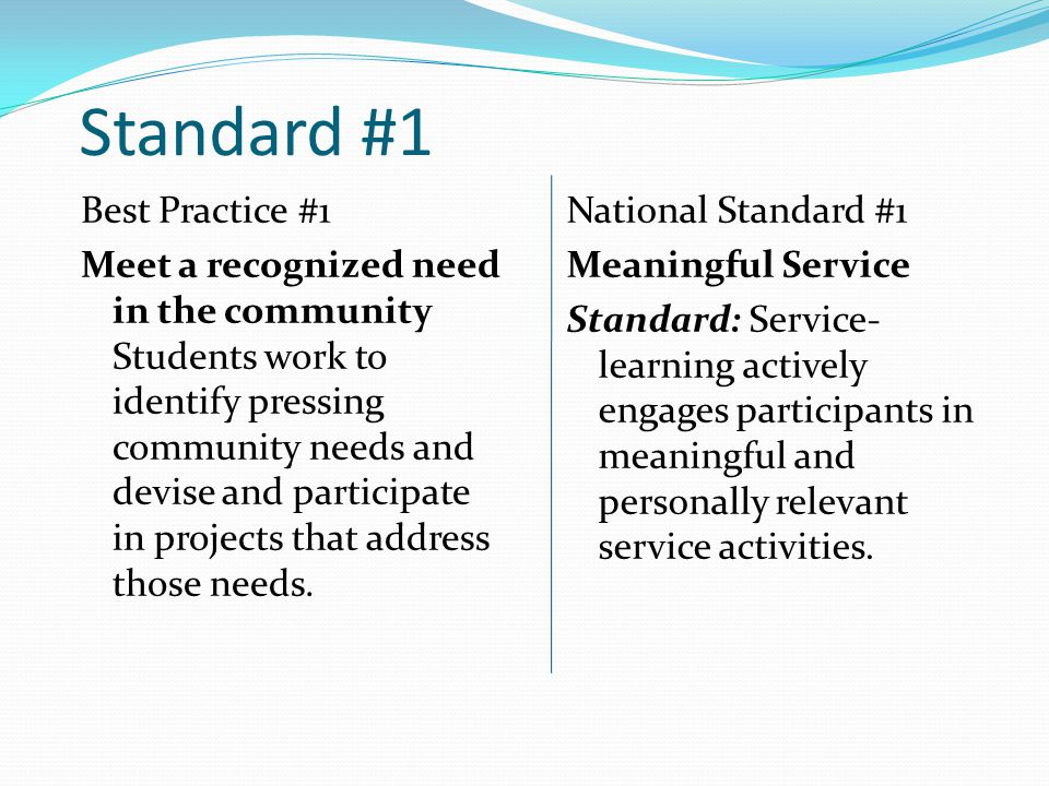 Students take leadership and ownership in planning, implementing, and evaluating service-learning experiences with age-appropriate guidance.