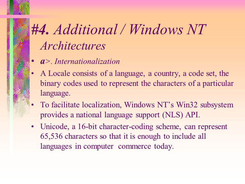 #4. Additional / Windows NT Architectures a >.