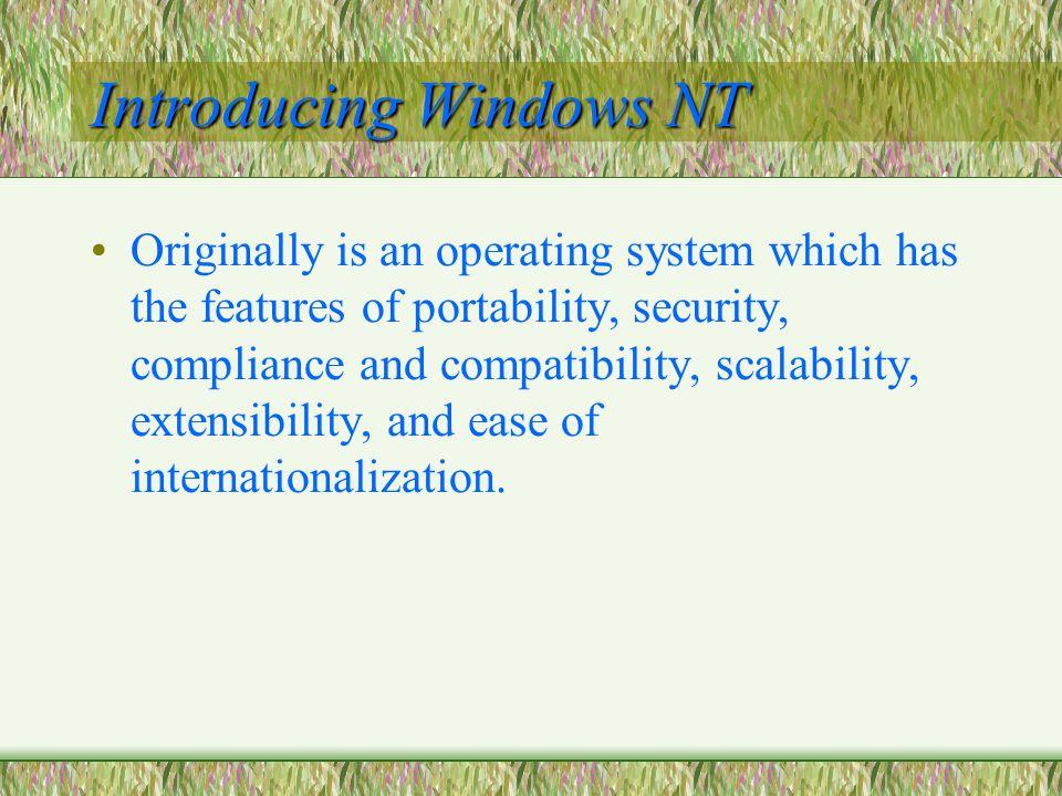 Introducing Windows NT