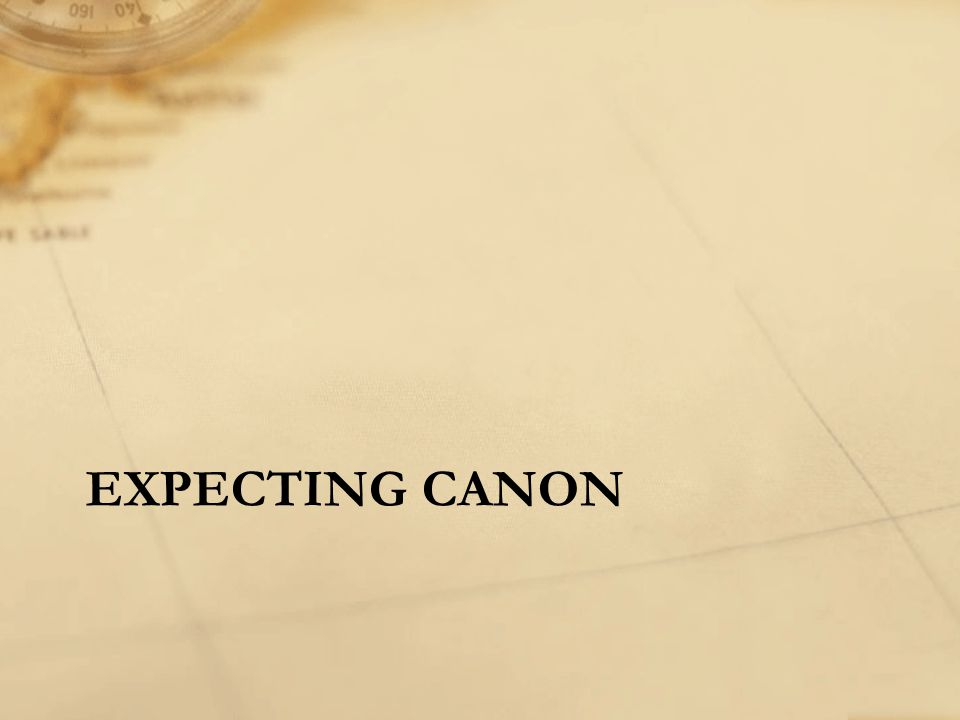 EXPECTING CANON