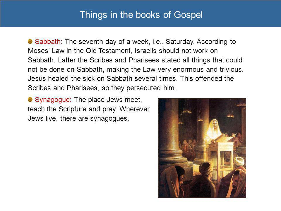 Sabbath: The seventh day of a week, i.e., Saturday.
