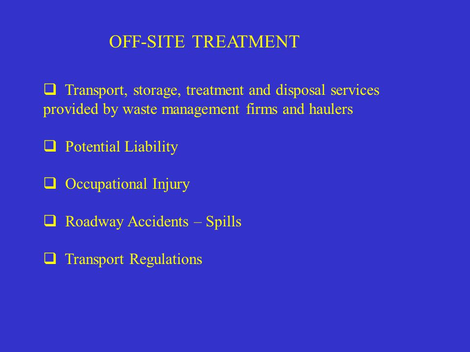 ON-SITE TREATMENT  SELECT AGENTS  STATE REQUIREMENTS - SITE NOTIFICATION - OPERATIONAL PLAN - VALIDATION PROTOCOL