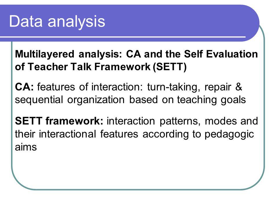 1.Classroom context modes a.