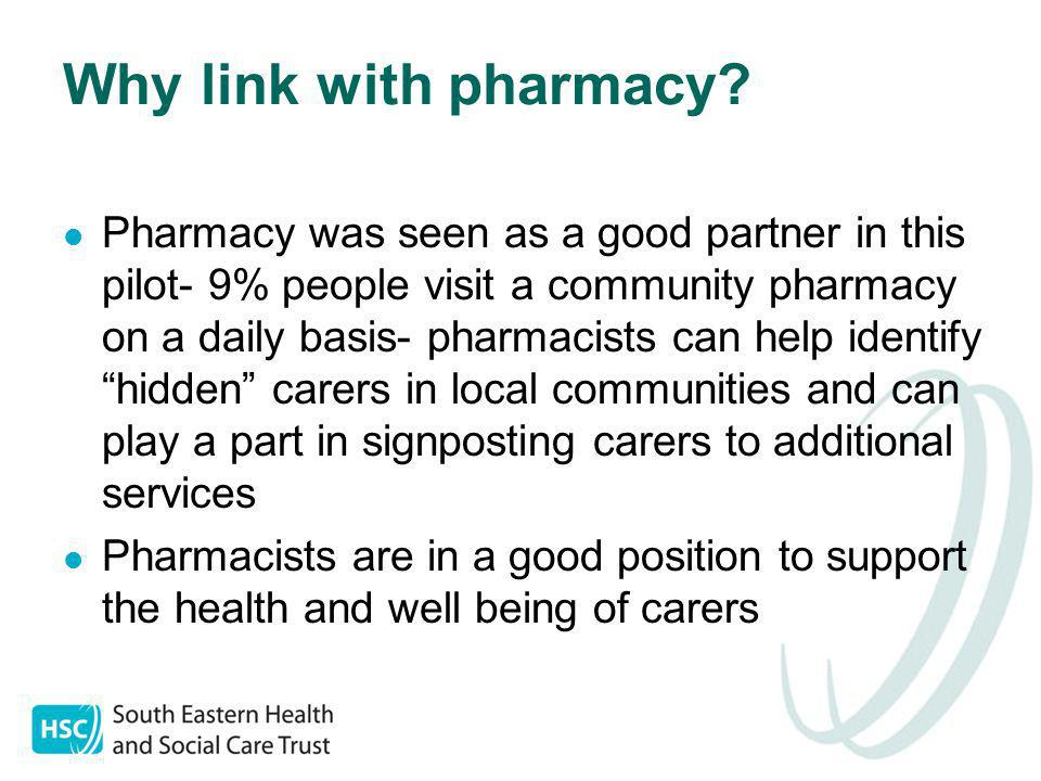 Why link with pharmacy.