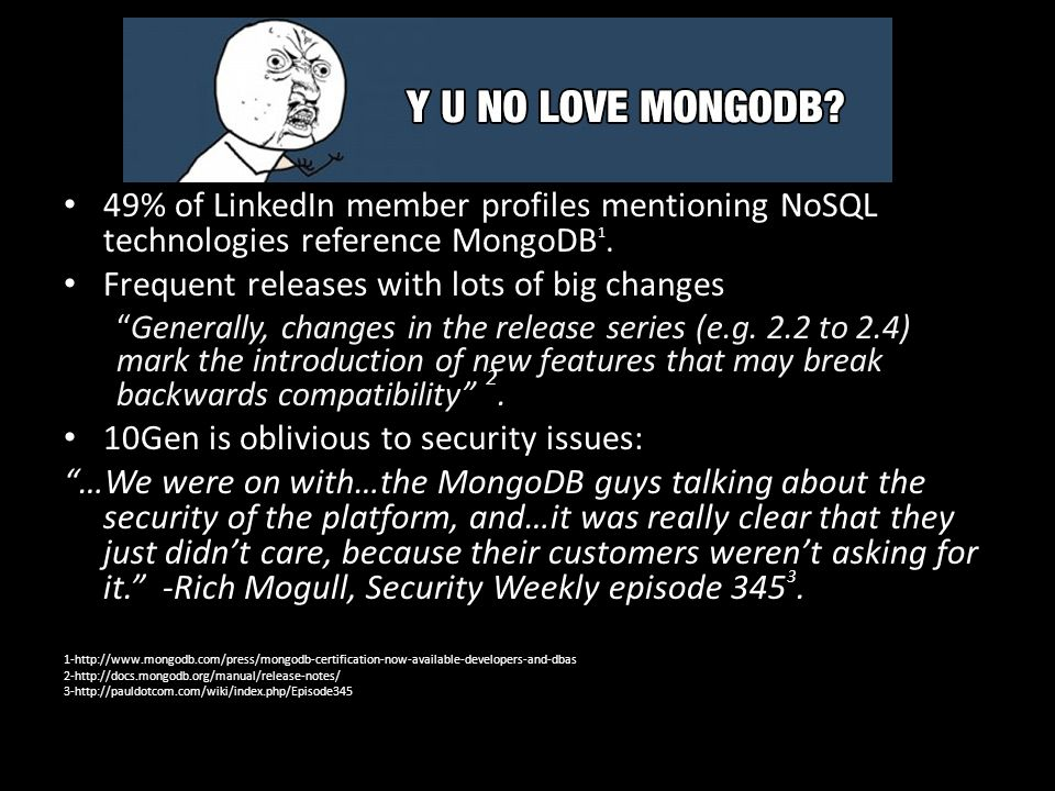 NoSQL Primer-Structure Traditional SQL Mongo NoSQL