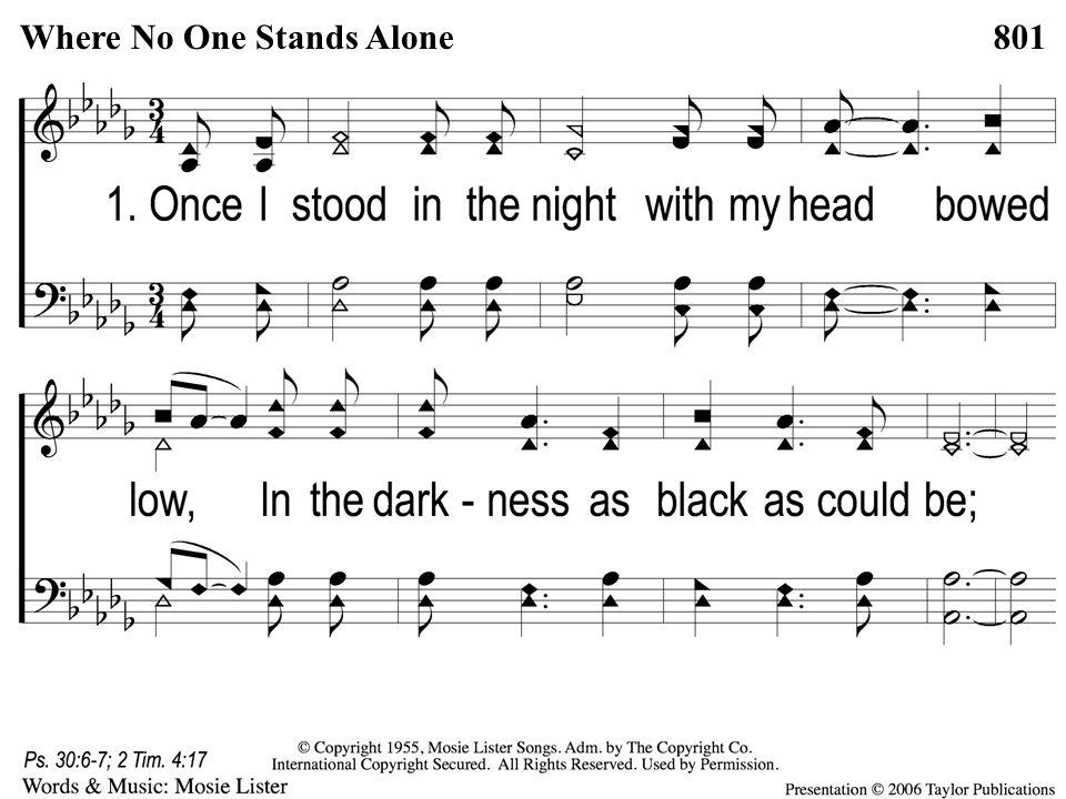 1-1 Where No One Stands Alone Where No One Stands Alone801