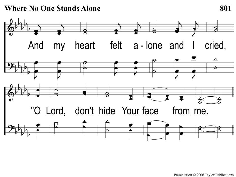 1-2 Where No One Stands Alone Where No One Stands Alone801