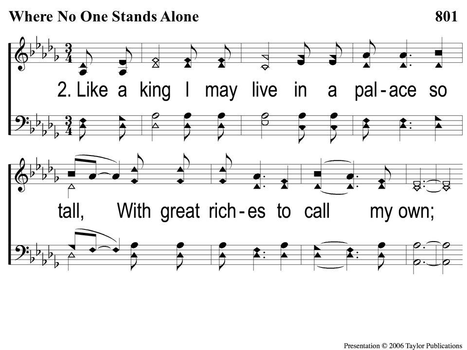 2-1 Where No One Stands Alone Where No One Stands Alone801