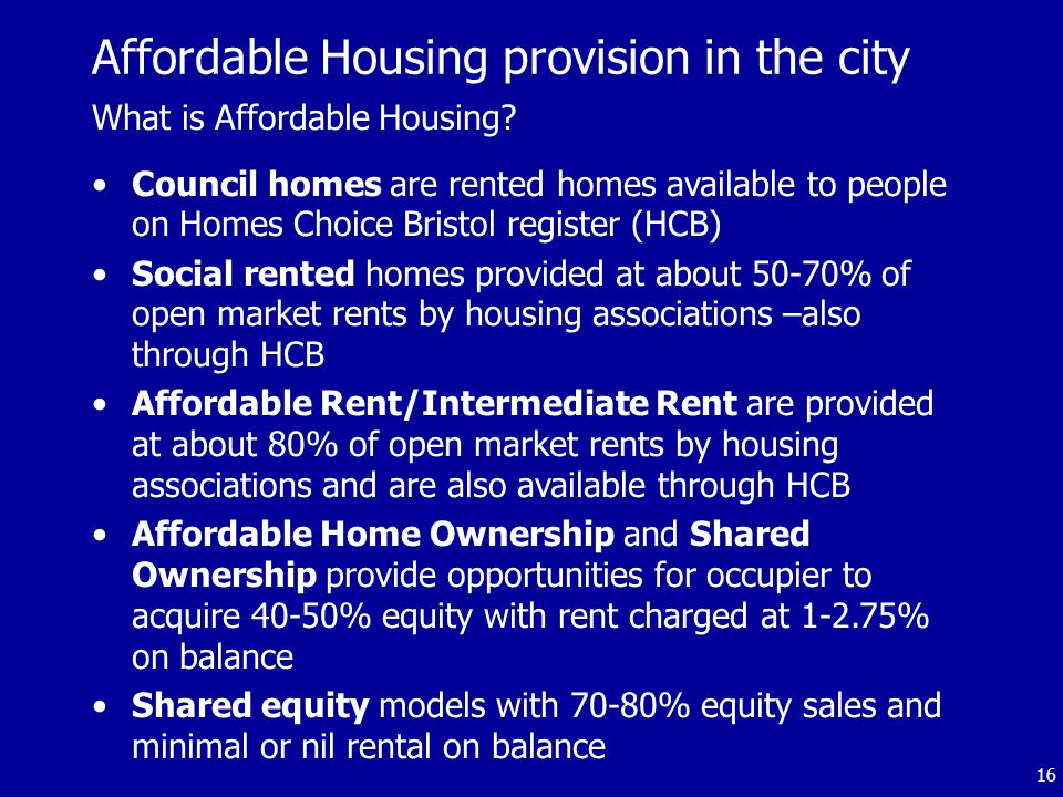 16 What is Affordable Housing.