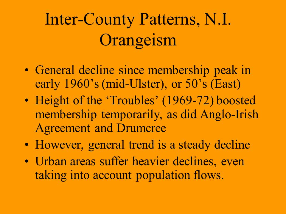 Inter-County Patterns, N.I.