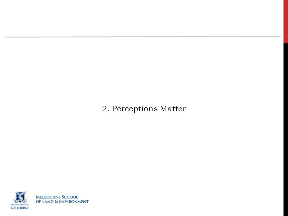2. Perceptions Matter