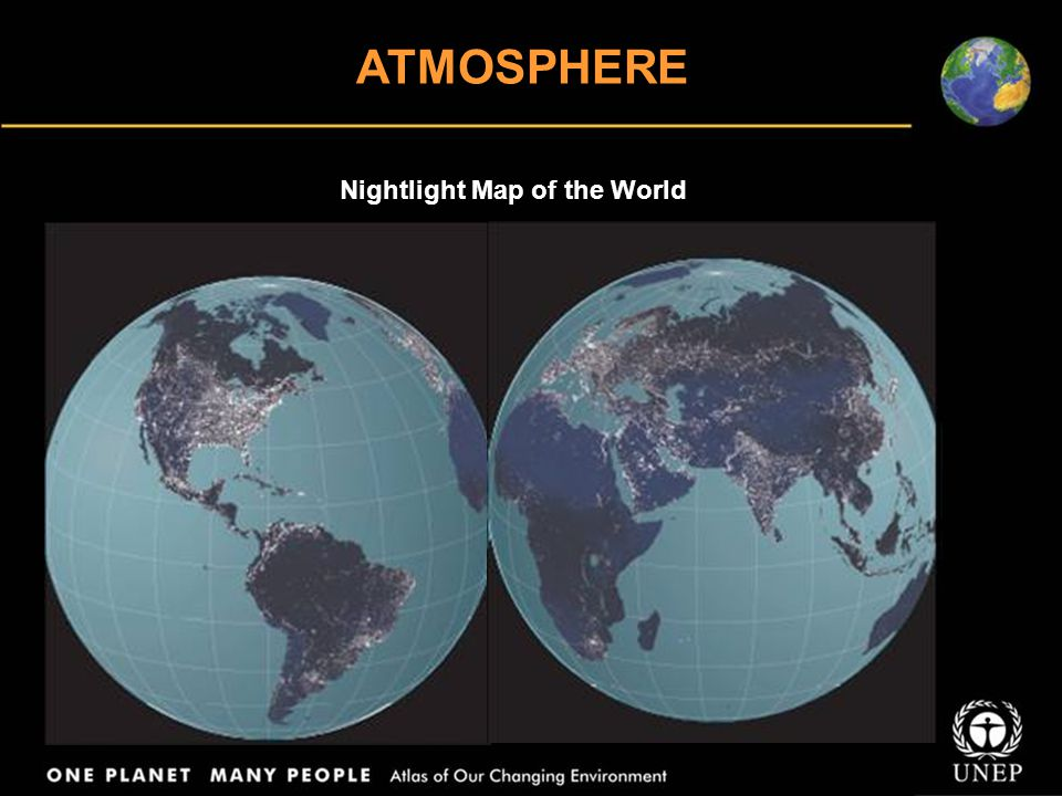 ATMOSPHERE Nightlight Map of the World