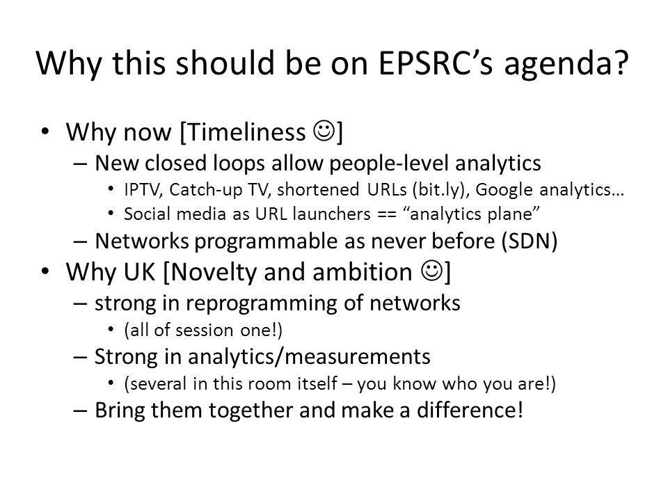 Why this should be on EPSRC's agenda.