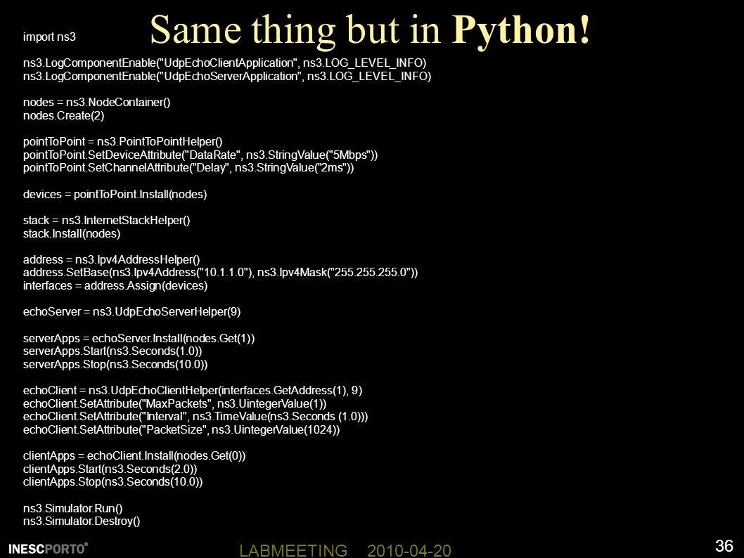 36 LABMEETING 2010-04-20 Same thing but in Python.