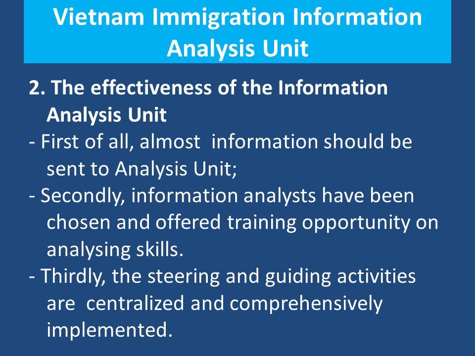 Vietnam Immigration Information Analysis Unit 2.