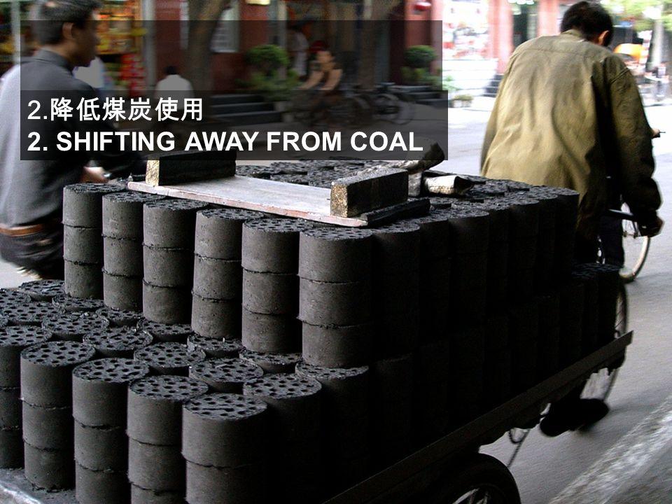 2. 降低煤炭使用 2. SHIFTING AWAY FROM COAL