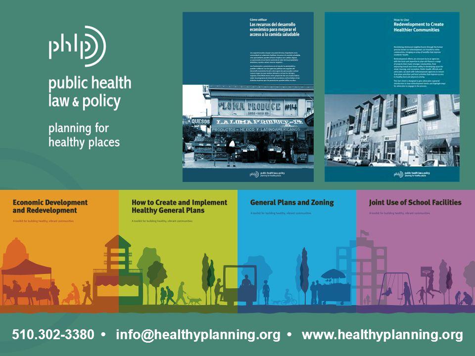 510.302-3380 info@healthyplanning.org www.healthyplanning.org