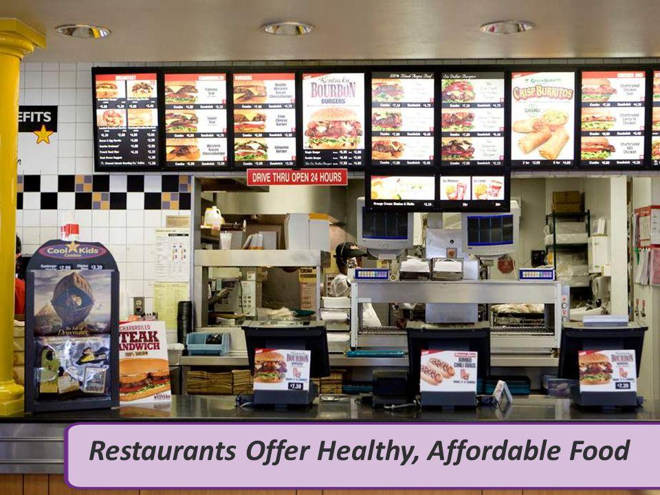 Restaurants Offer Healthy, Affordable Food