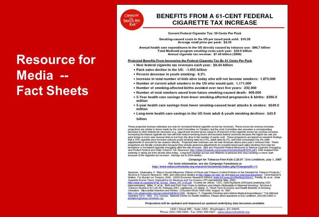 Resource for Media -- Fact Sheets