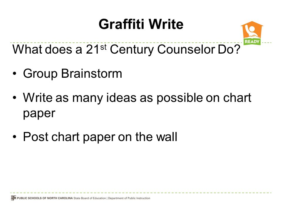 Graffiti Write What does a 21 st Century Counselor Do.