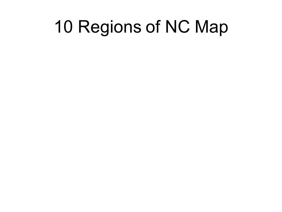 10 Regions of NC Map