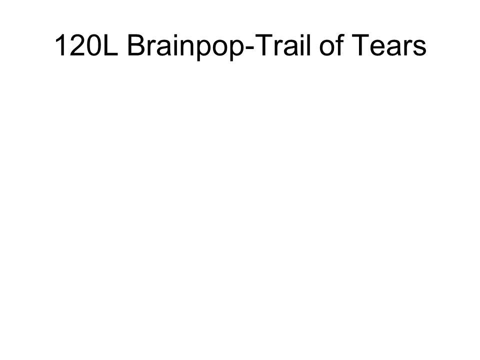 120L Brainpop-Trail of Tears