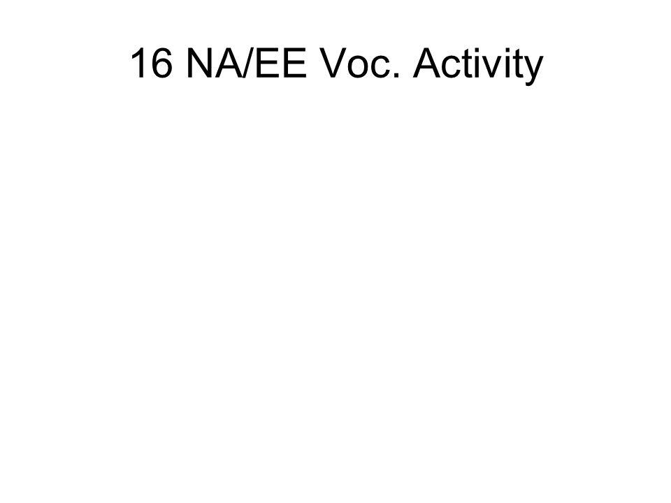 16 NA/EE Voc. Activity