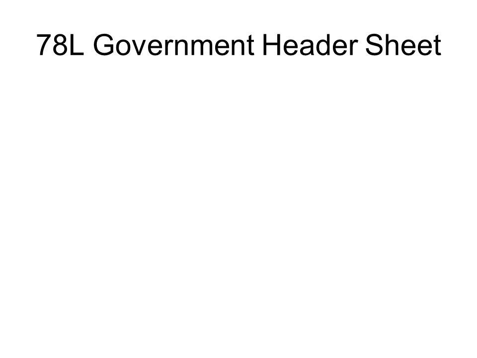 78L Government Header Sheet
