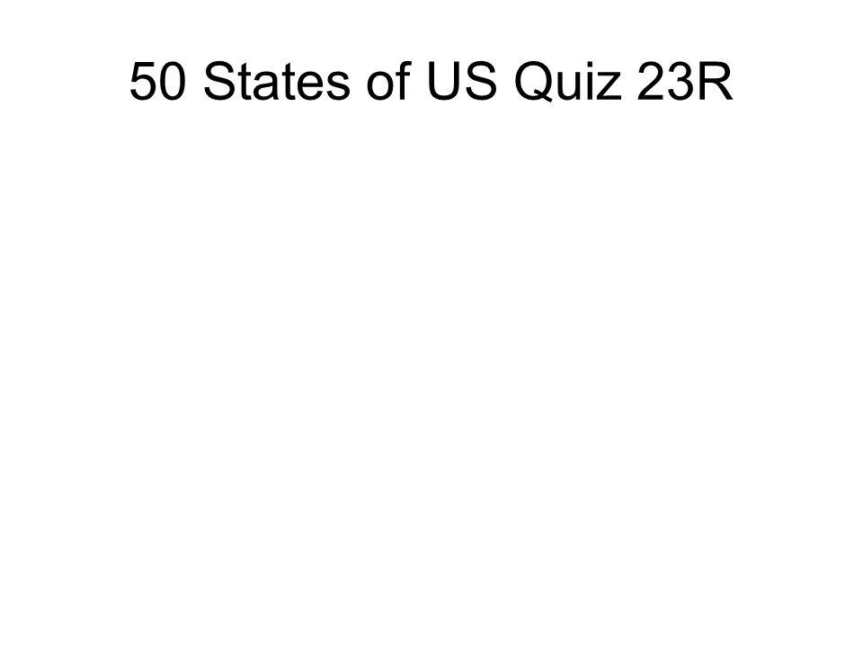 50 States of US Quiz 23R