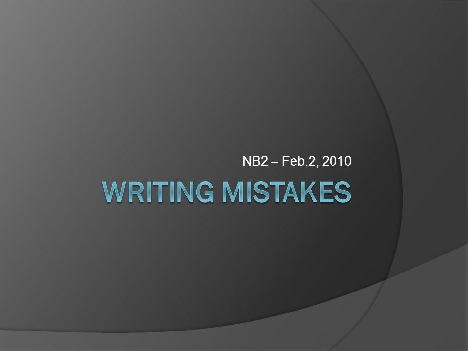 NB2 – Feb.2, 2010