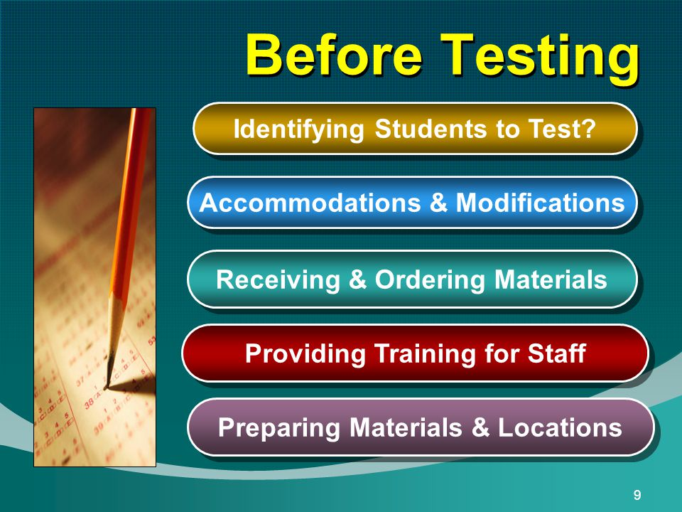 9 Before Testing Identifying Students to Test.