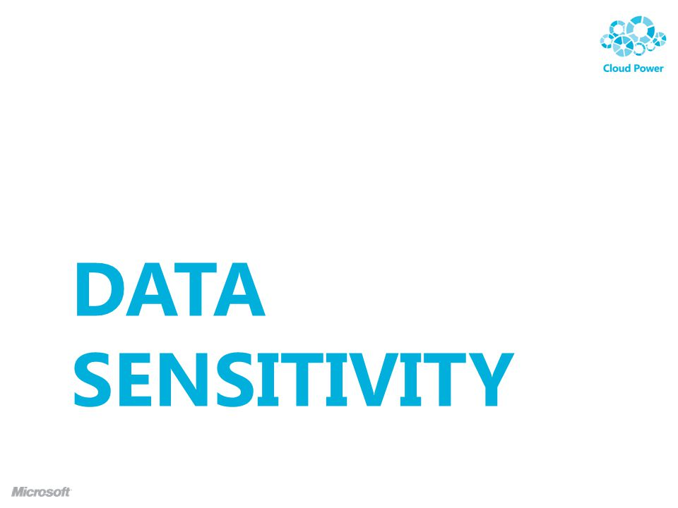 DATA SENSITIVITY