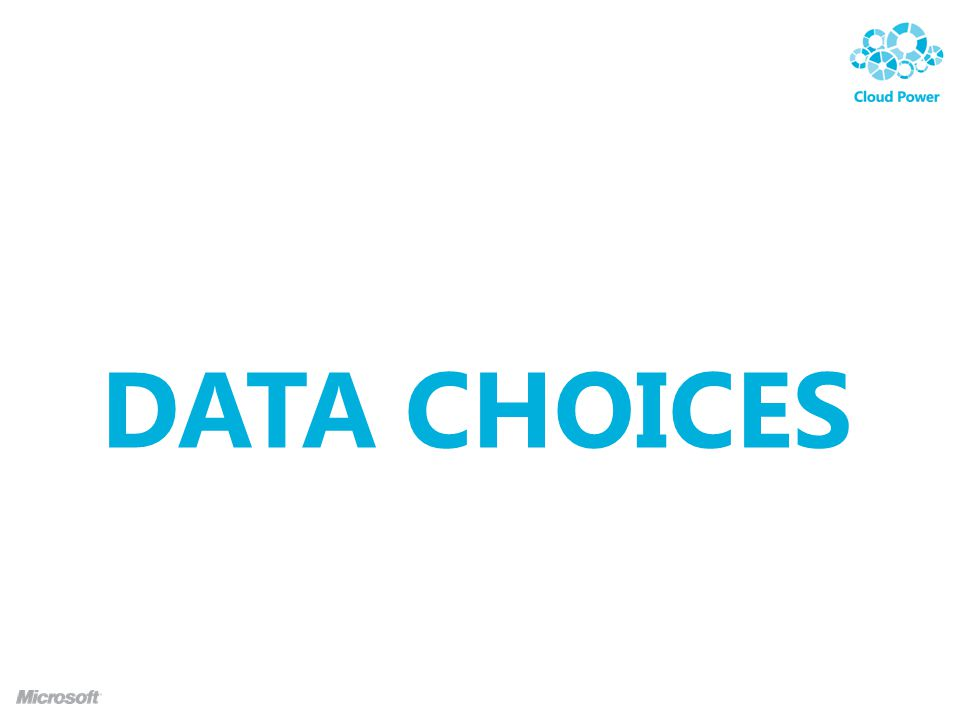 DATA CHOICES