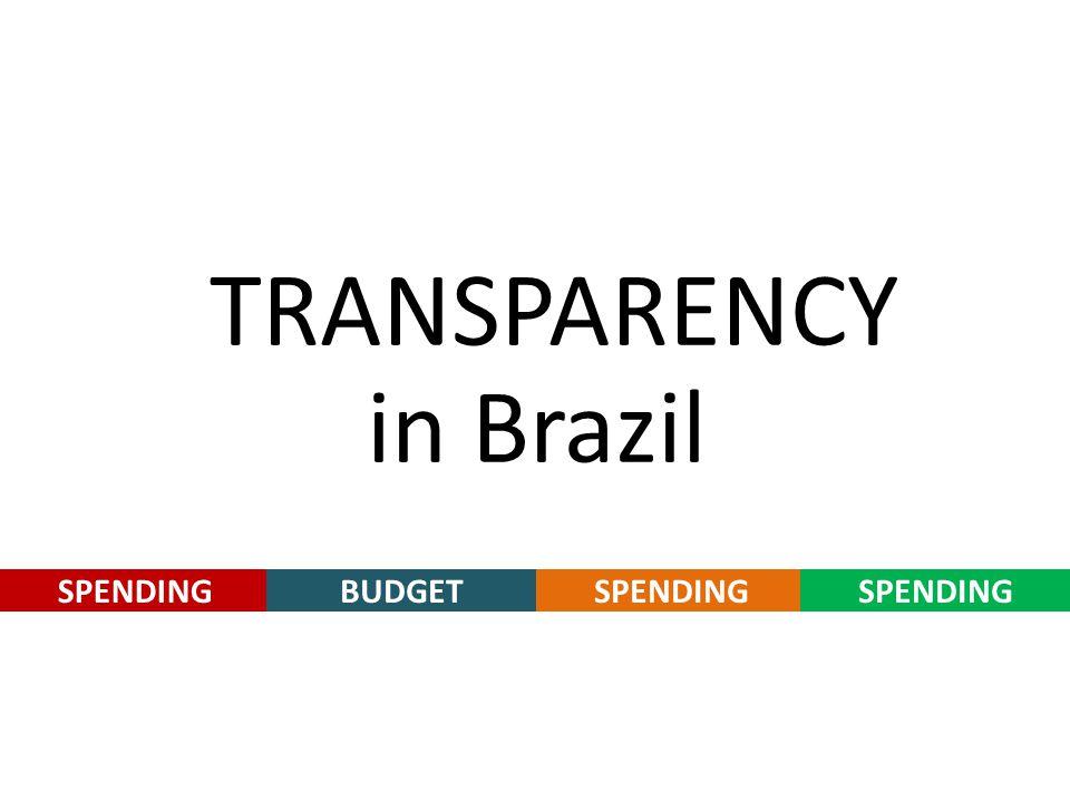 SPENDING in Brazil TRANSPARENCY BUDGETSPENDING