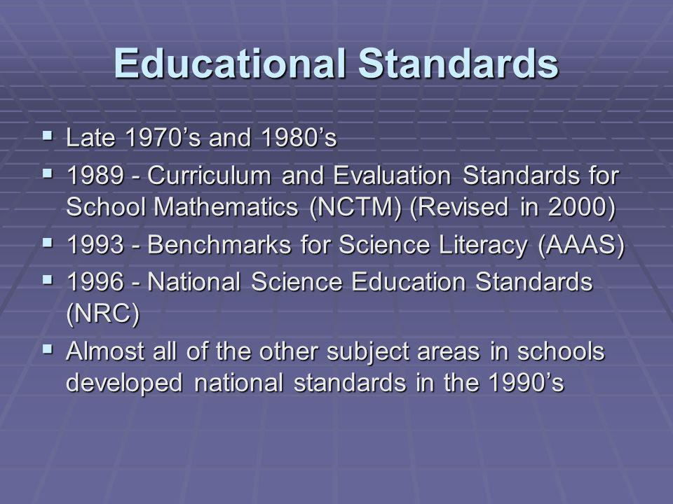 Standards for Technological Literacy International Technology Education Association (ITEA)(2000/2002/2008) (Funded by NSF & NASA)