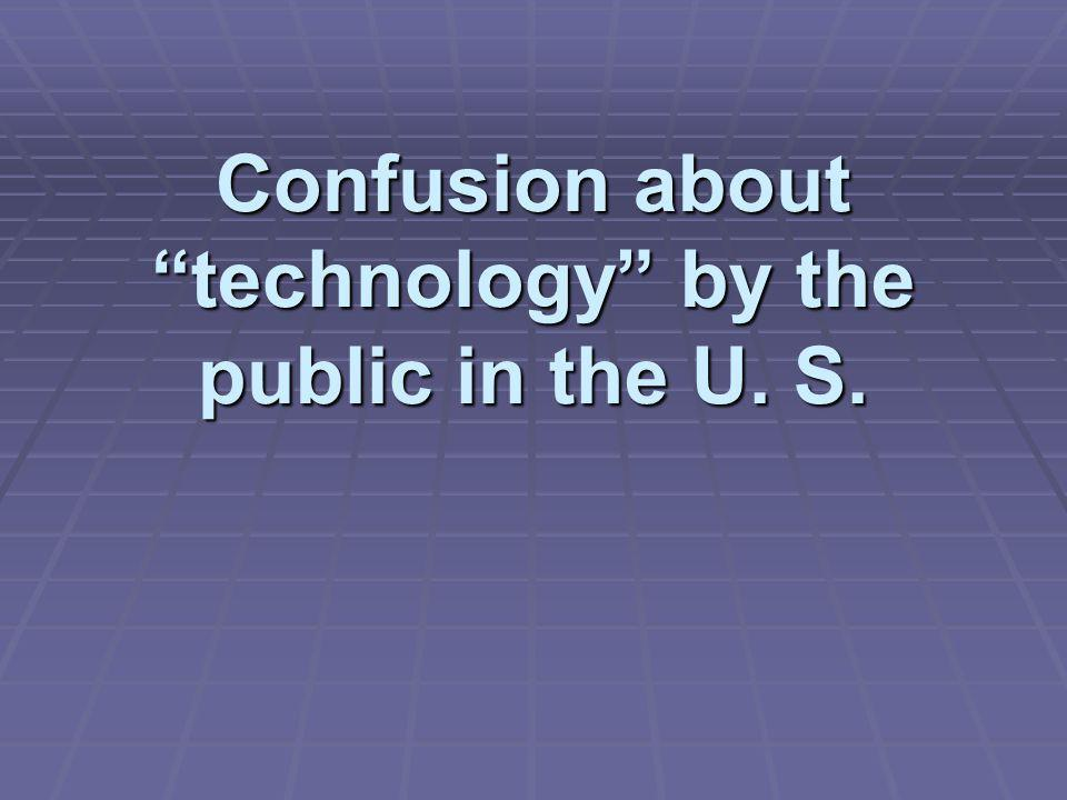 Technology is not understood  Gallup poll (ITEA)