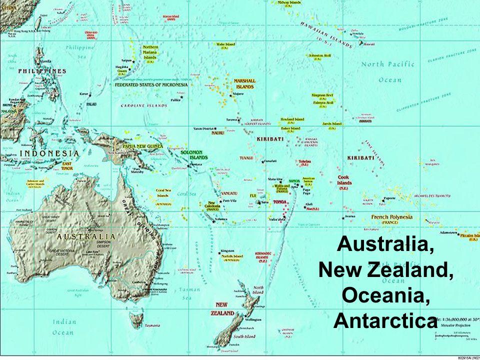 Australia, New Zealand, Oceania, Antarctica