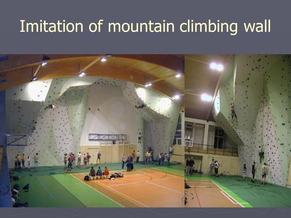 Imitation of mountain climbing wall